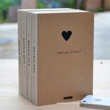 Novo caderno recarregado de papel Kraft Paper promocional novo e quente com logotipo