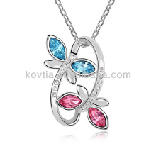 10032 moda jóias de prata colar de bijuteria de cristal