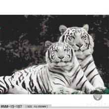 Classic Glass Mosaic Tiger Animal Pattern Craft Mural