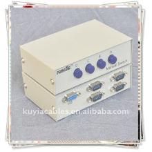 DB9 9 pinos serial RS-232 4 portas caixa de adaptador ABCD Switch