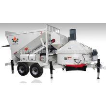Oversea centro de serviço móvel mini planta de processamento de concreto à venda 10m3 / h