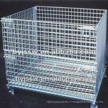 Cage de palette de treillis métallique d'acier