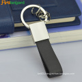 Leather Loop Keychain With Metal Plated