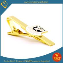 Professionelle kundenspezifische hochwertige Überzug Goldene Krawatte Clip für Geschenk