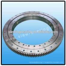 Roulement d'anneau de rotation préchargé standard européen pour traitement des eaux usées