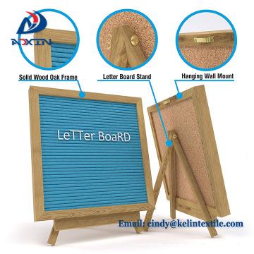 Tableros de letra de madera al por mayor del fieltro 10 * 10 pulgadas, tablero de letras cambiables del mensaje Tablero de carta del fieltro
