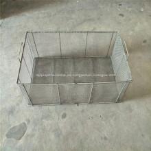 Cesta de almacenamiento de alambre de metal para cocina / despensa / gabinete