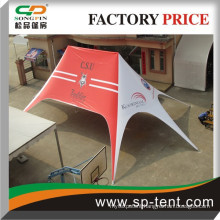Cheap hot sale royal promotional twin style star display tent 10x14m with printing