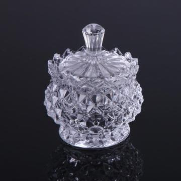 Elegent Crystal Glass Sugar Pot Snoeppot