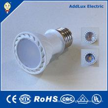 3W Dimmable COB E27 lumière du jour / ampoule blanche pure de projecteur de LED