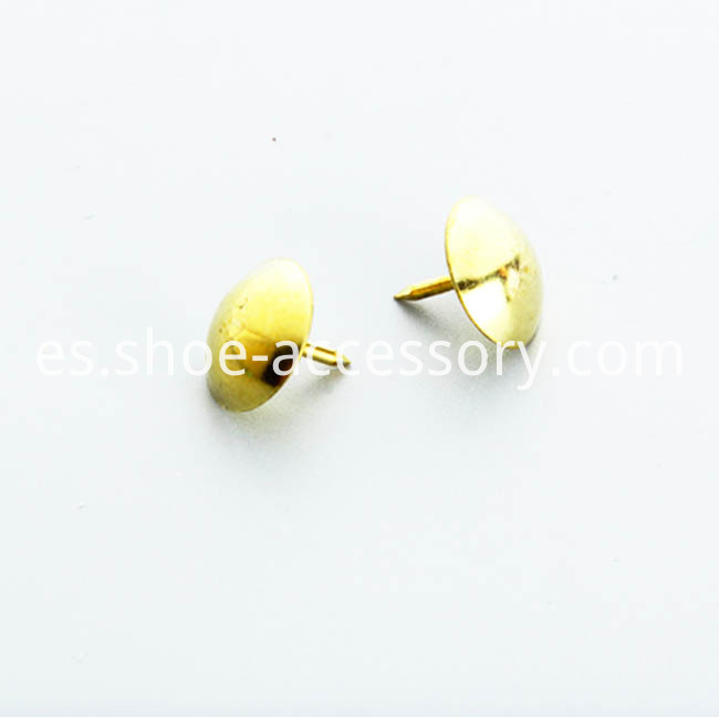 Furniture Tacks in Gold Plated Finish 10.5x9mm