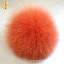 Neue Ankunft Hotsale Pom Pom echtes flaumiges Kaninchen-Pelz-Ball Keychain