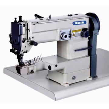Máquina de costura em zigue-zague com cama de cilindro e encadernação