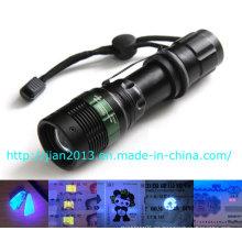 3W 365nm escorpión recargable caza linterna UV