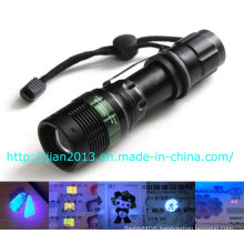 3W 365nm Rechargeable Scorpion Hunting UV Flashlight