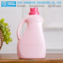 QB-LF1000 nova chegada alta qualidade flor cap PEAD plástico lavanderia frasco detergente