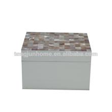 CPN-WPSBXS Pink Shell Spray Painted Storage Box in Medium Size