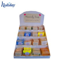 Boîtes de présentation en gros de papier de fantaisie de conception de 2018, boîtes d'affichage de compteur de carton pour le savon