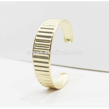 Fashion 316L Stainless Steel Gold Cuff Bangle 2016