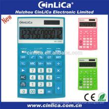 Calculatrice numérique numérique colorée à 12 chiffres à bas prix, calculatrice fiscale scientifique