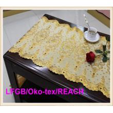 ПВХ Золотой кружева скатерть в рулоне фабрики для использования свадебное