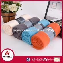 100 polyester en gros meilleure qualité solide polaire couverture