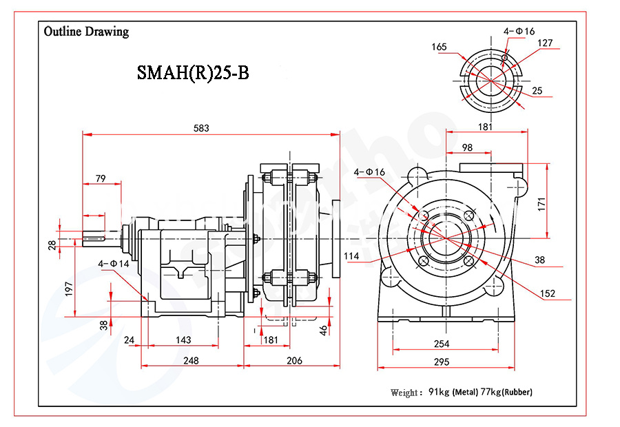 SMAH(R)25-B outline drawing