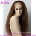Nova chegada kinky reta 22 polegadas #4 brasileiro virgem cheia do laço humano cabelo perucas brancas