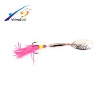 SPL036 Venta caliente al por mayor señuelo de la pesca señuelo spinner cebo spinner metal
