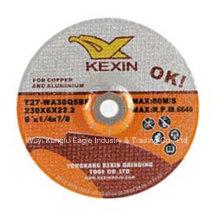 """9"""" 230X6X22.2mm Resin Grinding Wheel/Grinding Disc for Aluminum"""