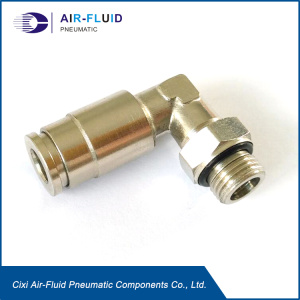 Air-Fluid Elbow Quick Connectors for oil and grease.