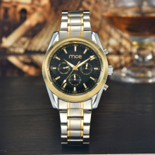 Men's black dial automatic mechanical alloy watch