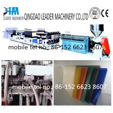 para Greenhouse Clear / Colored PC Polycarabonate Hollow Sheet Machine