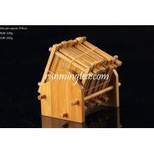 Handmade Bamboo Saucer Set, 8 pcs of Saucer