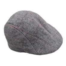 Kids Children Boys Girls Unisex Woolen Classic Winter Autumn Newsboy Driving Tweed Hat Cap (HW816)