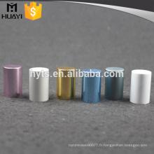 bouchon de bouteille de parfum en aluminium coloré mélangé