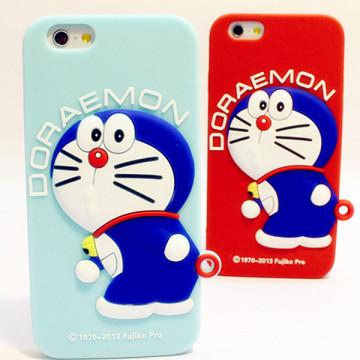 3D lindo Doraemon suave funda de silicona para iPhone