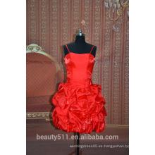 Vestido de noche sin mangas del vestido de partido del cortocircuito del vestido de partido de las correas de espagueti SE01