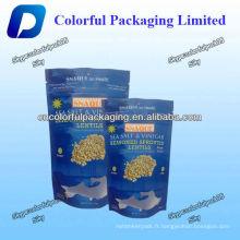 Lentilles germées assaisonnées debout sac avec fermeture à glissière / sac d'emballage alimentaire Nut avec fermeture à glissière