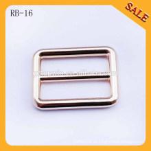 RB16 Leichtes Gold rundes connor Metall verstellbare Beutelschnalle