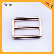 RB16 Light gold round connor metal adjustable bag buckle