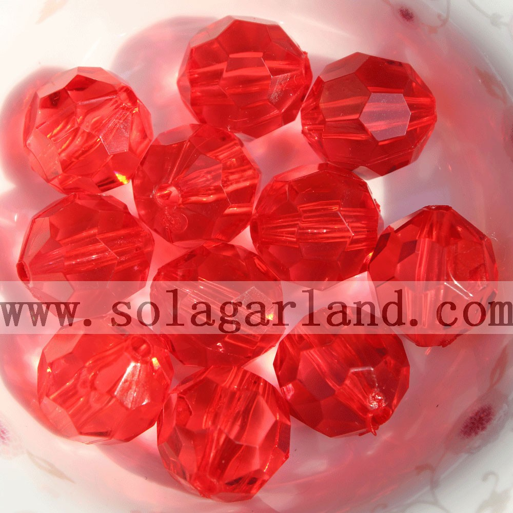 Acrylic Faceted Beads