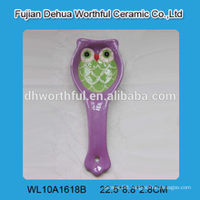 Most Lovely owl shaped ceramic spoon holder for sale
