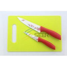 Juego de cuchillos de cocina de color antiadherente