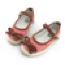Lovely полосатый ботинки холстины малышей младенца вскользь ботинок с плакатом пряжки лука