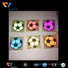 Cheap custom made round reflex sticker football shape decal