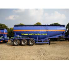 3 Axle 35-60cbm Bulk Powder Tank Trailers