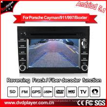 Navigation GPS pour voiture pour Porsche Cayman / 911/997 Andriod System MP4 Player Tuner DVB-T