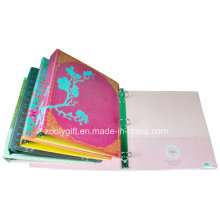 Customized Printing PVC 3 Ring Binder with Transparent PVC Pockets Inside