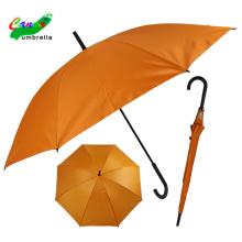 versilberter Anti-UV-chromatischer einfarbiger orangefarbener Regenschirm